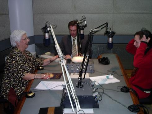 FOTO: En Radio Continental con Elsa Gaffuri y Fernando Menendez